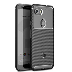 Silikon Hülle Handyhülle Gummi Schutzhülle Tasche Köper für Google Pixel 3 XL Schwarz
