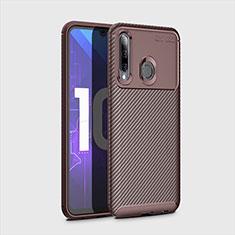 Silikon Hülle Handyhülle Gummi Schutzhülle Tasche Köper für Huawei Enjoy 9s Braun
