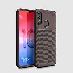 Silikon Hülle Handyhülle Gummi Schutzhülle Tasche Köper für Huawei Honor 10 Lite Braun