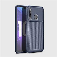 Silikon Hülle Handyhülle Gummi Schutzhülle Tasche Köper für Huawei Honor 20 Lite Blau