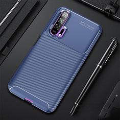 Silikon Hülle Handyhülle Gummi Schutzhülle Tasche Köper für Huawei Honor 20 Pro Blau