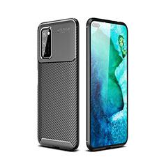 Silikon Hülle Handyhülle Gummi Schutzhülle Tasche Köper für Huawei Honor View 30 5G Schwarz