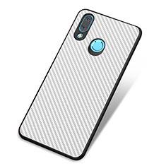 Silikon Hülle Handyhülle Gummi Schutzhülle Tasche Köper für Huawei Nova 3 Weiß