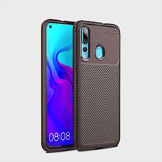 Silikon Hülle Handyhülle Gummi Schutzhülle Tasche Köper für Huawei Nova 4 Braun