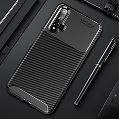 Silikon Hülle Handyhülle Gummi Schutzhülle Tasche Köper für Huawei Nova 5 Schwarz