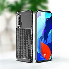 Silikon Hülle Handyhülle Gummi Schutzhülle Tasche Köper für Huawei Nova 6 5G Schwarz
