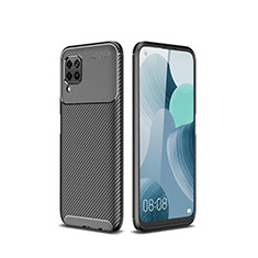 Silikon Hülle Handyhülle Gummi Schutzhülle Tasche Köper für Huawei Nova 6 SE Schwarz