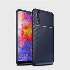 Silikon Hülle Handyhülle Gummi Schutzhülle Tasche Köper für Huawei P20 Blau