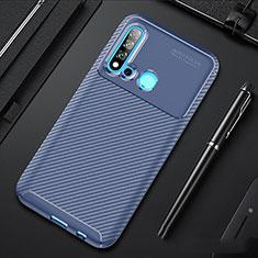 Silikon Hülle Handyhülle Gummi Schutzhülle Tasche Köper für Huawei P20 Lite (2019) Blau