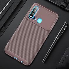 Silikon Hülle Handyhülle Gummi Schutzhülle Tasche Köper für Huawei P20 Lite (2019) Braun