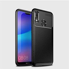 Silikon Hülle Handyhülle Gummi Schutzhülle Tasche Köper für Huawei P20 Lite Schwarz