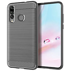 Silikon Hülle Handyhülle Gummi Schutzhülle Tasche Köper für Huawei P30 Lite Grau
