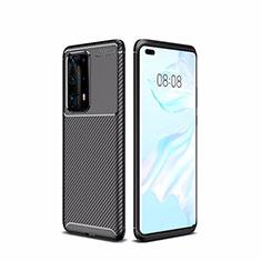 Silikon Hülle Handyhülle Gummi Schutzhülle Tasche Köper für Huawei P40 Pro+ Plus Schwarz