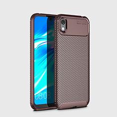 Silikon Hülle Handyhülle Gummi Schutzhülle Tasche Köper für Huawei Y5 (2019) Braun