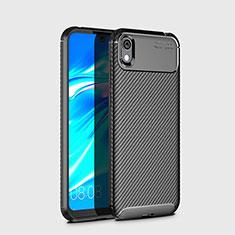 Silikon Hülle Handyhülle Gummi Schutzhülle Tasche Köper für Huawei Y5 (2019) Schwarz