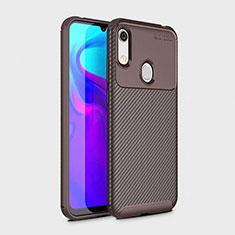 Silikon Hülle Handyhülle Gummi Schutzhülle Tasche Köper für Huawei Y6 (2019) Braun