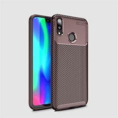 Silikon Hülle Handyhülle Gummi Schutzhülle Tasche Köper für Huawei Y7 (2019) Braun