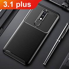 Silikon Hülle Handyhülle Gummi Schutzhülle Tasche Köper für Nokia 3.1 Plus Schwarz