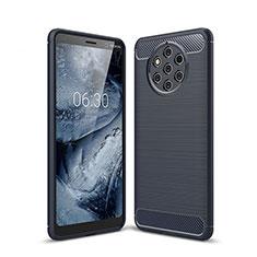 Silikon Hülle Handyhülle Gummi Schutzhülle Tasche Köper für Nokia 9 PureView Blau