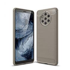 Silikon Hülle Handyhülle Gummi Schutzhülle Tasche Köper für Nokia 9 PureView Grau