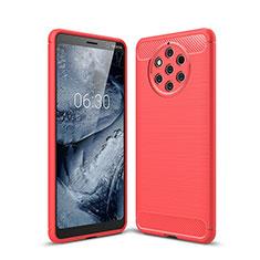 Silikon Hülle Handyhülle Gummi Schutzhülle Tasche Köper für Nokia 9 PureView Rot