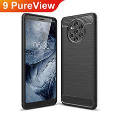Silikon Hülle Handyhülle Gummi Schutzhülle Tasche Köper für Nokia 9 PureView Schwarz