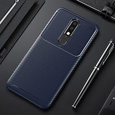 Silikon Hülle Handyhülle Gummi Schutzhülle Tasche Köper für Nokia X3 Blau