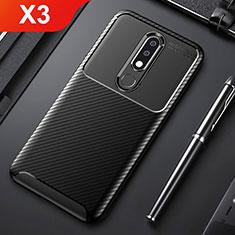 Silikon Hülle Handyhülle Gummi Schutzhülle Tasche Köper für Nokia X3 Schwarz