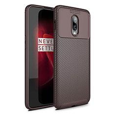 Silikon Hülle Handyhülle Gummi Schutzhülle Tasche Köper für OnePlus 6 Braun