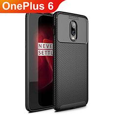 Silikon Hülle Handyhülle Gummi Schutzhülle Tasche Köper für OnePlus 6 Schwarz