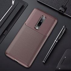 Silikon Hülle Handyhülle Gummi Schutzhülle Tasche Köper für OnePlus 7 Pro Braun