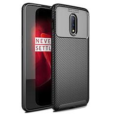 Silikon Hülle Handyhülle Gummi Schutzhülle Tasche Köper für OnePlus 7 Schwarz