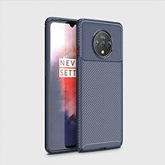 Silikon Hülle Handyhülle Gummi Schutzhülle Tasche Köper für OnePlus 7T Blau