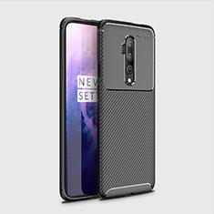 Silikon Hülle Handyhülle Gummi Schutzhülle Tasche Köper für OnePlus 7T Pro Schwarz