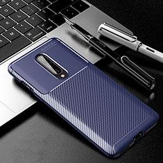 Silikon Hülle Handyhülle Gummi Schutzhülle Tasche Köper für OnePlus 8 Blau