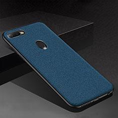 Silikon Hülle Handyhülle Gummi Schutzhülle Tasche Köper für Oppo A7 Blau
