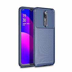 Silikon Hülle Handyhülle Gummi Schutzhülle Tasche Köper für Oppo A9X Blau