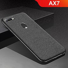 Silikon Hülle Handyhülle Gummi Schutzhülle Tasche Köper für Oppo AX7 Schwarz