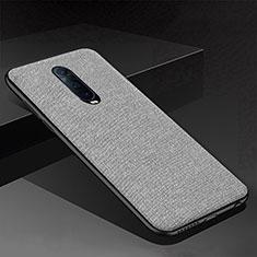 Silikon Hülle Handyhülle Gummi Schutzhülle Tasche Köper für Oppo RX17 Pro Grau