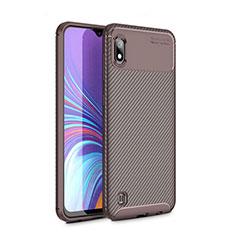 Silikon Hülle Handyhülle Gummi Schutzhülle Tasche Köper für Samsung Galaxy A10 Braun