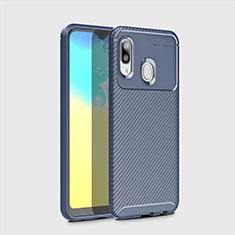 Silikon Hülle Handyhülle Gummi Schutzhülle Tasche Köper für Samsung Galaxy A20e Blau