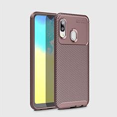 Silikon Hülle Handyhülle Gummi Schutzhülle Tasche Köper für Samsung Galaxy A20e Braun