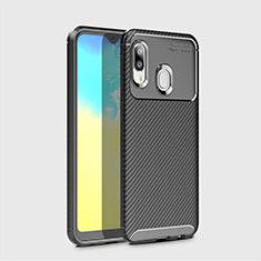 Silikon Hülle Handyhülle Gummi Schutzhülle Tasche Köper für Samsung Galaxy A20e Schwarz