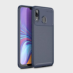 Silikon Hülle Handyhülle Gummi Schutzhülle Tasche Köper für Samsung Galaxy A30 Blau