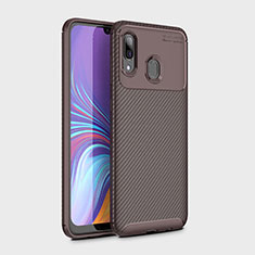 Silikon Hülle Handyhülle Gummi Schutzhülle Tasche Köper für Samsung Galaxy A30 Braun