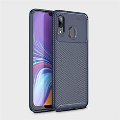 Silikon Hülle Handyhülle Gummi Schutzhülle Tasche Köper für Samsung Galaxy A40 Blau