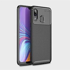 Silikon Hülle Handyhülle Gummi Schutzhülle Tasche Köper für Samsung Galaxy A40 Schwarz