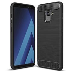Silikon Hülle Handyhülle Gummi Schutzhülle Tasche Köper für Samsung Galaxy A5 (2018) A530F Schwarz