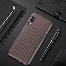 Silikon Hülle Handyhülle Gummi Schutzhülle Tasche Köper für Samsung Galaxy A50 Braun