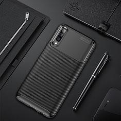 Silikon Hülle Handyhülle Gummi Schutzhülle Tasche Köper für Samsung Galaxy A50 Schwarz